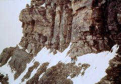Rock Climbing Photo: The first significant vertical step in the ridge. ...