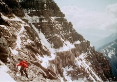 Rock Climbing Photo: In the main part of the face - note the vertical s...