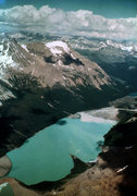 Rock Climbing Photo: Berg Lake from just before the technical part of t...