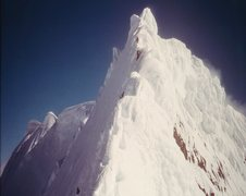 Rock Climbing Photo: Looking up to the summit from the final set of gar...