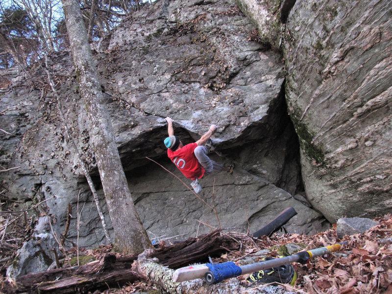 Rock Climbing Photo: Aaron James Parlier about to pull the lip on the F...