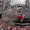 "Aaron Parlier on the FA of ""Sumatran"" on the Siberian Boulder"