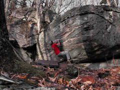 "Rock Climbing Photo: Aaron James Parlier on the FA and start to ""S..."