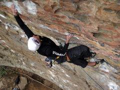 Rock Climbing Photo: Boulder Local Curt MacNeill crushing on the Milita...