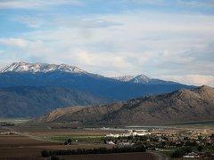 Rock Climbing Photo: Mt. San Jacinto & Tahquitz Peak from Lake Perris S...