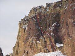 Rock Climbing Photo: Super Slab 5.6