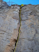 Rock Climbing Photo: Runners for the bolt anchor at the top