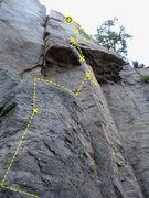 Rock Climbing Photo: Go far right at the top and use your right hand on...