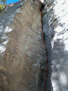 Rock Climbing Photo: The upper half is not in the picture but is a crac...