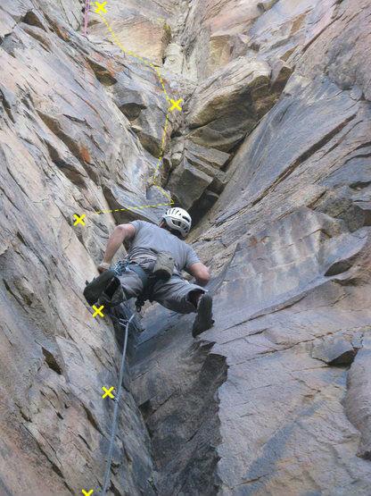 Rock Climbing Photo: Avoid those blocks!