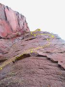 Rock Climbing Photo: Second bolt crux