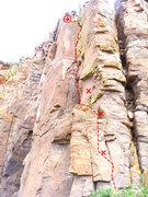 Rock Climbing Photo: Great moderate!