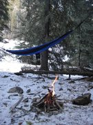 Rock Climbing Photo: My Hammock the only way to avoid a frozen ass haha