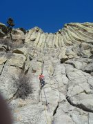 Rock Climbing Photo: Our Fearless Leader the Ledgend Frank Sanders star...
