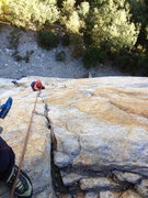 Rock Climbing Photo: Veronica on the outstanding P2