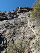 Rock Climbing Photo: Looking up pitch one.  There are a couple of hard ...