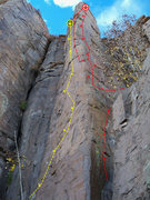 Rock Climbing Photo: Yellow is Nairobi Red is Opposible Thumbs Required...