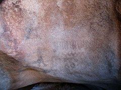 Rock Climbing Photo: Very faint pictographs, Joshua Tree NP