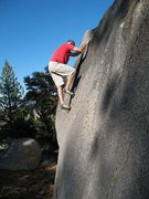 Rock Climbing Photo: Problem C (V2+), Ice Cream Boulders