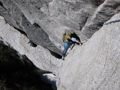 Rock Climbing Photo: On the start in late spring after a hard winter.  ...