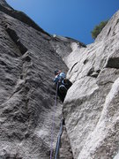 Rock Climbing Photo: Don't do this variation to start pitch 2. Otherwis...