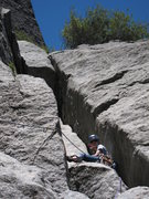 Rock Climbing Photo: ...this will happen.   No, the rope should not loo...
