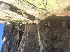 Rock Climbing Photo: second pitch of lunch bucket ledge