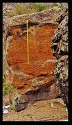 Rock Climbing Photo: Vertical Swim problem beta.