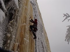 Rock Climbing Photo: Lower ice.