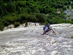 Rock Climbing Photo: Shawn and Scott on the last pitch of the Grack on ...