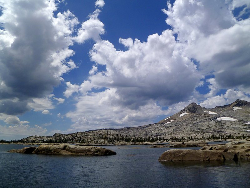 Lake Aloha in Desolation Wilderness of the northern Sierra Nevada. No climbing to be had but a beautiful way to pass the day regardless. <br> <br> Summer 2012
