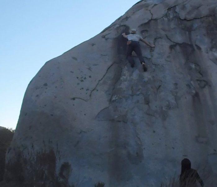 Fabi climbing Puckerfest