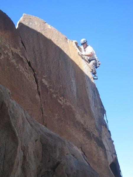 Rock Climbing Photo: Donno on Limpy Grandma. Photo: Fishklr.
