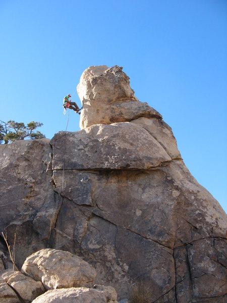 Rock Climbing Photo: Rapping Laurel's Nose