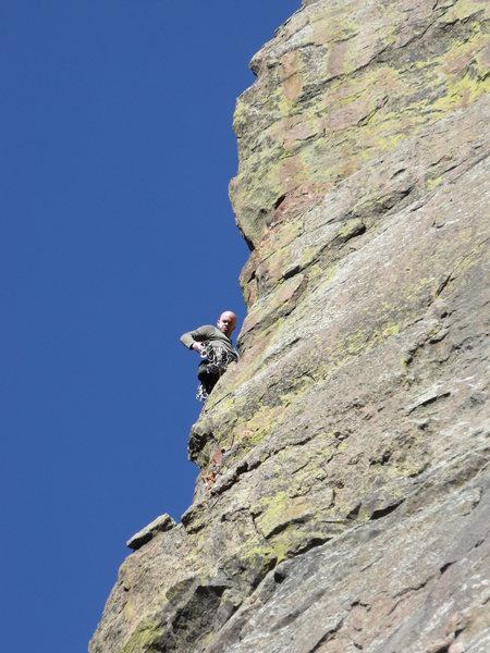 Rock Climbing Photo: Rope-soloing in Eldo