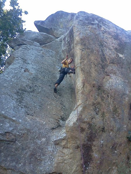 Rock Climbing Photo: T-Seck no hands rest on the open book