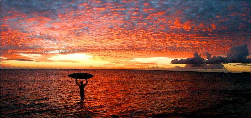 Rock Climbing Photo: Sunset Namotu, Fiji