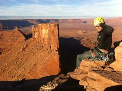 Rock Climbing Photo: topping out on Castleton Tower Moab, UT