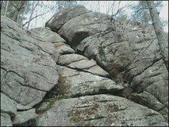 Rock Climbing Photo: 35 ft cliff