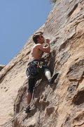 "Rock Climbing Photo: Lucas Von Lightning chalks up on ""Binder.&quo..."