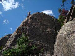 Rock Climbing Photo: Tom finishes the climb.