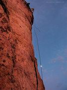 Rock Climbing Photo: Last run.
