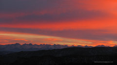 Rock Climbing Photo: Sunset over Sangres, seen from Cactus Cliffs.