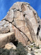 Rock Climbing Photo: Tom Thumb with a climber at the 1st roof of Treibe...