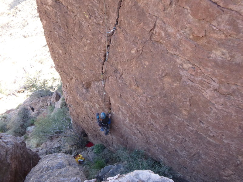 Rock Climbing Photo: Marcy on the bottom of the route