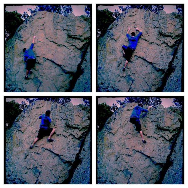 Rock Climbing Photo: Sequence for Hangnail Right. Climber Razi, Photo R...