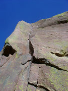 Rock Climbing Photo: Looking up at the first pitch of The Naked Edge.