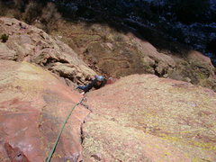 Rock Climbing Photo: Crystal on P1 of The Naked Edge.