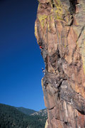 Rock Climbing Photo: Last pitch of The Naked Edge.