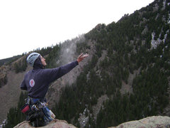 Rock Climbing Photo: Spreading Bart's ashes from the top of The Naked E...